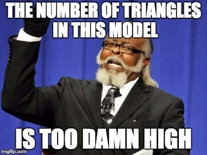 Too many triangles