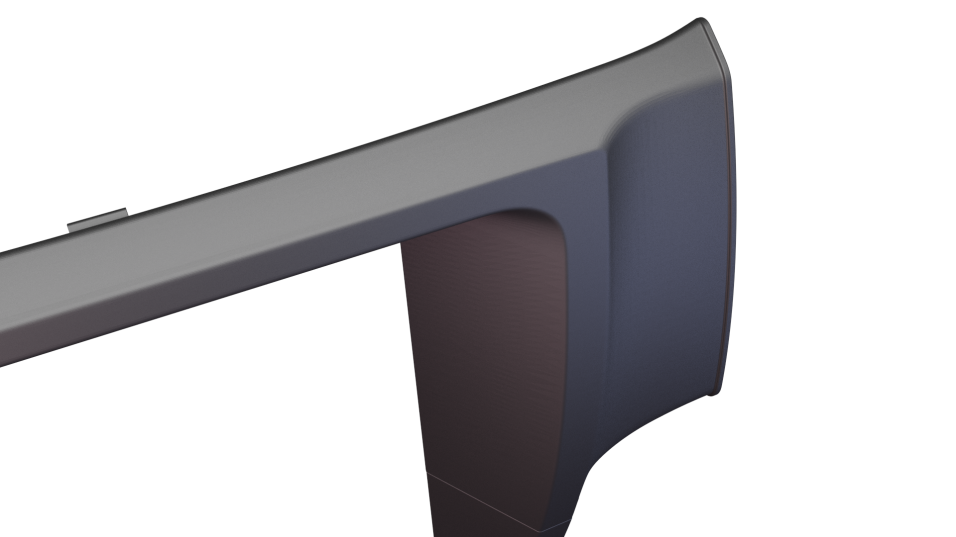 We want a strong clean transition to the passenger console. (3D rendering)